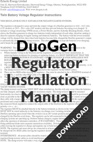 Regulator instructions DuoGen
